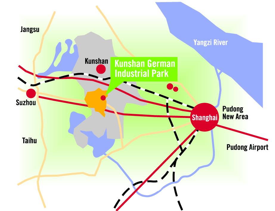 Kunshan China Map.Kunshan Production Site Startup Factory